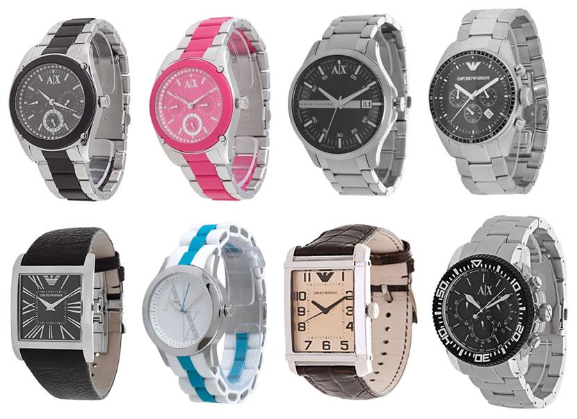 Relógios Armani com cupom de desconto de 30%