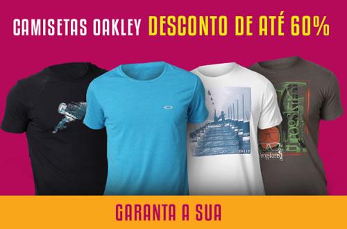 Camisetas Oakley com desconto de até 60% na Netshoes