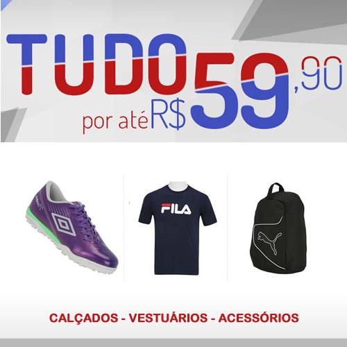 Centauro: Seleção de produtos por até R$ 59,90