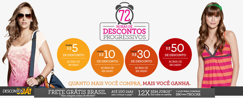 Marisa: Descontos Progressivos de até 50 reais