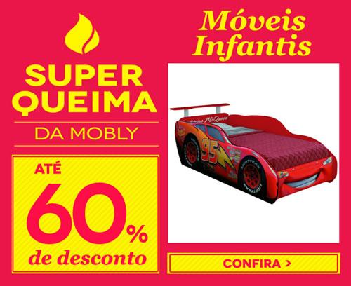Super Queima com até 60% de desconto + cupom de 15% na Mobly