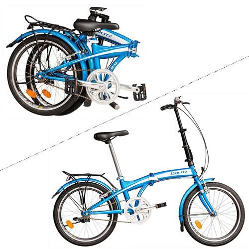 Bicicleta Dobrável Aro 20 Blitz com desconto no Ponto Frio