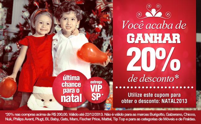 Bebê Store: Cupom de desconto de 20% vale somente até este domingo