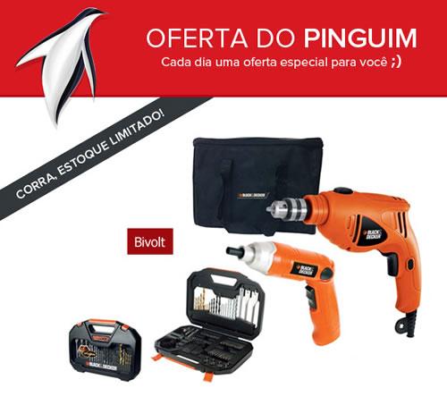 Kit Furadeira e Parafusadeira + Estojo com 100 Peças com descontão