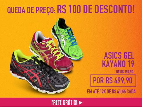 Tênis Asics Gel Kayano 19 com 17% de desconto na Netshoes