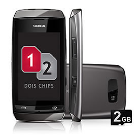 Shoptime: Celular Nokia Asha 305 Dual Chip por R$ 179,10 à vista