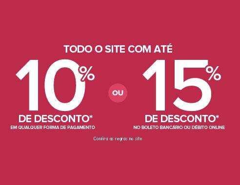 Todo site Ponto Frio com 10% de desconto + 15% no boleto