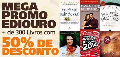 Saraiva: Mais de 300 livros com 50% de desconto