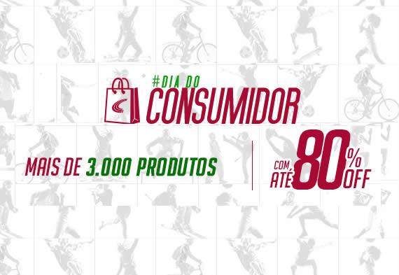 Dia do Consumidor: Até 80% de desconto na Centauro