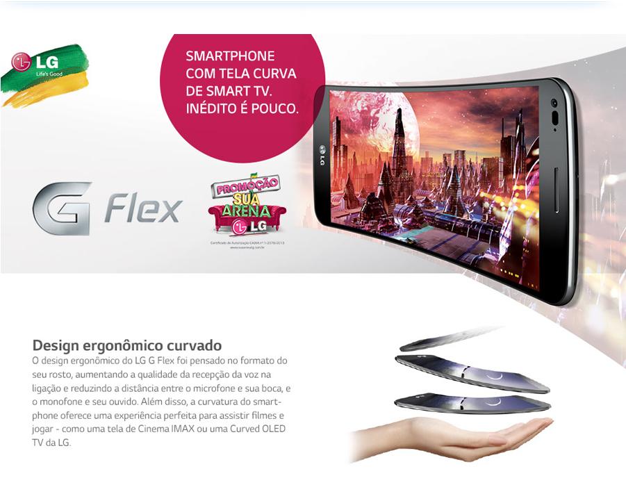 """Celular Desbloqueado LG G Flex D956 Titanium com Tela Curva de 6"""", Android 4.2, Câmera 13MP, 4G, NFC e Processador Quad Core de 2.3GHz"""
