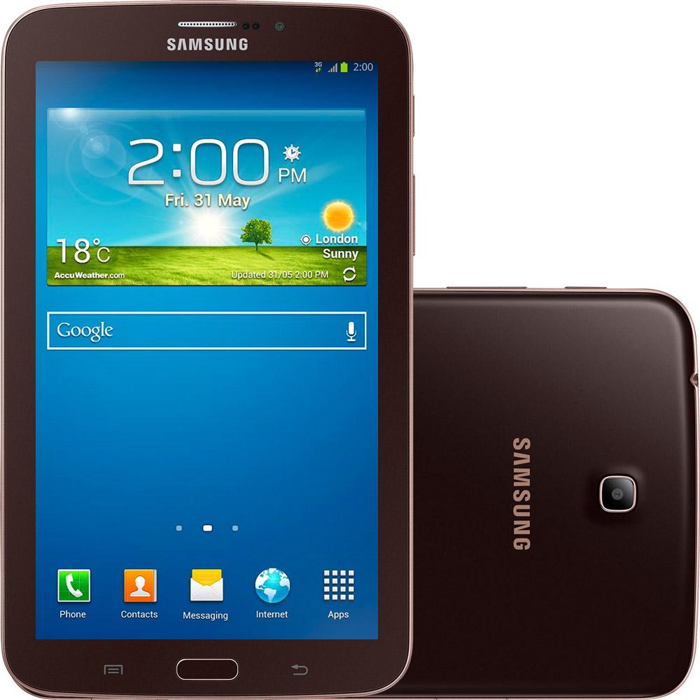 """Tablet Samsung Galaxy TAB 3 T2110 com Android 4.1 Wi-Fi e 3G Tela 7"""" Touchscreen Marrom e Memória Interna 8GB - Desbloqueado TIM"""