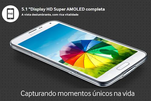 Samsung Galaxy S5 com 12% de desconto no boleto no Girafa