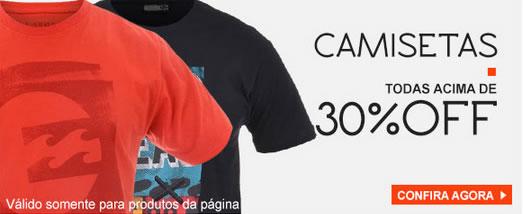 Camisetas, bermudas e bonés c/mais de 30% de desconto na Kanui