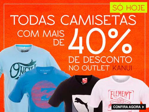 Camisetas com mais de 40% de desconto na Kanui