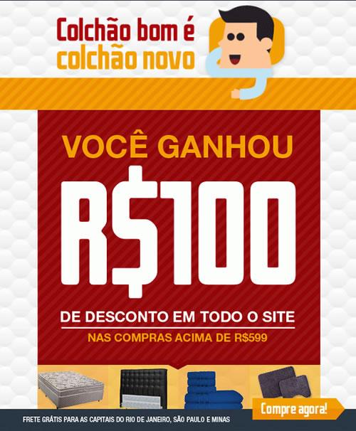 Cupom de desconto de R$ 100 no site Ecolchao