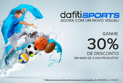 Dafiti Sports está de cara nova e com cupom de 30%