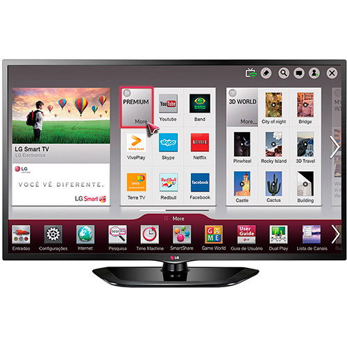 "Smart TV LED HD 32"" LG 32LN560B por R$ 899,10 à vista no Shoptime"