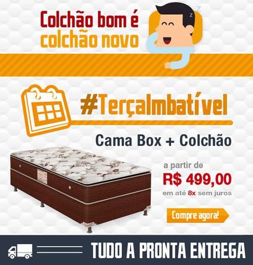 #Terçaimbatível Ecolchao: Cama + box a partir de R$ 499