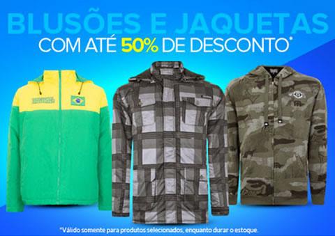 Blusões e jaquetas com até 50% de desconto na Dafiti Sports