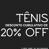 Cupom de desconto de 20% em tênis na Kanui