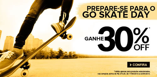 Cupom de desconto de 30% em produtos de skate na Dafiti Sports