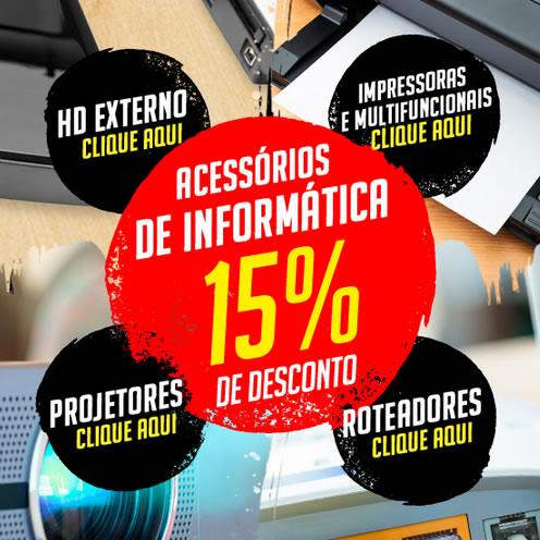 Impressoras, HD Externo e Roteadores com 15% de desconto no Ricardo Eletro