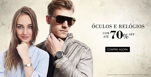 Óculos e relógios com até 70% de desconto na Renner