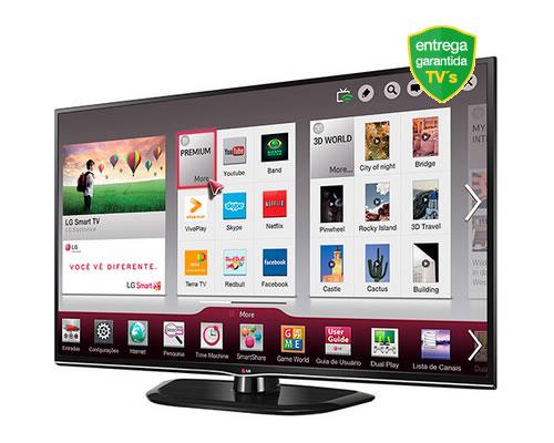 Smart TV 3D Plasma 50'' LG 50PH4700 com 12% de desconto na Americanas