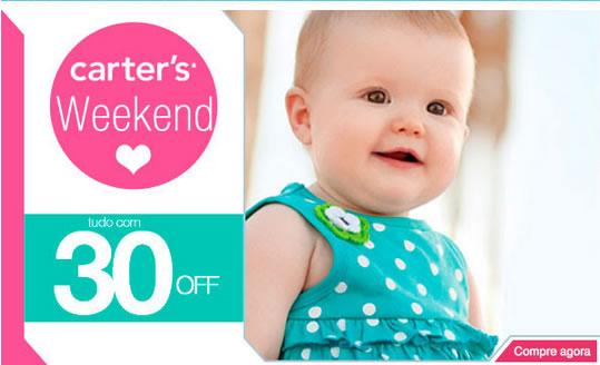 Linha Carter's com 30% de desconto + cupons de até 17% na Bebê Store
