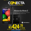 Smartphone Motorola Moto E Preto com 15% de desconto à vista no Ricardo Eletro