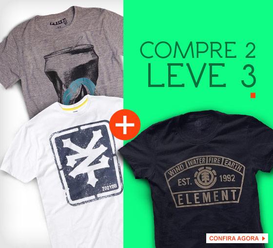 Kanui: Compre 2 camisetas e leve 3
