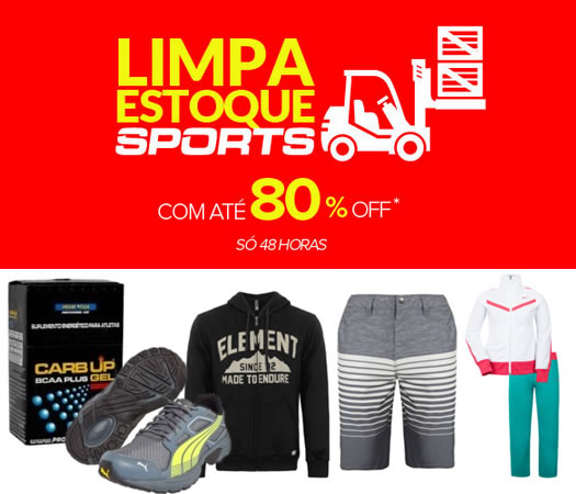 48H de Limpa Estoque na Dafiti Sports c/ até 80% de desconto