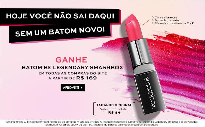 Sephora: Ganhe Batom Smashbox nas compras acima de R$ 169