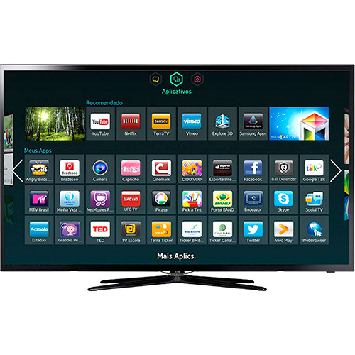 "Smart TV Samsung 40"" 40F5500 por R$ 1.319,12 à vista no Shoptime"