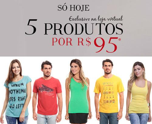 Só hoje na Renner: 5 produtos por R$ 95
