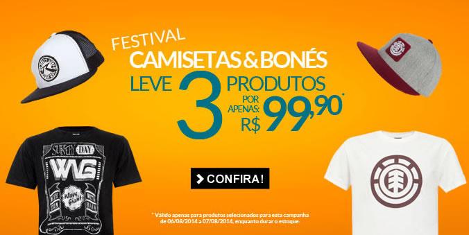 Leve 3 produtos por R$ 99,90 na Dafiti Sports; vale para seleção de camisetas e bonés
