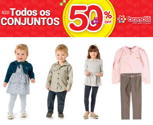 Conjuntos infantis Brandili com 50% de desconto na Posthaus