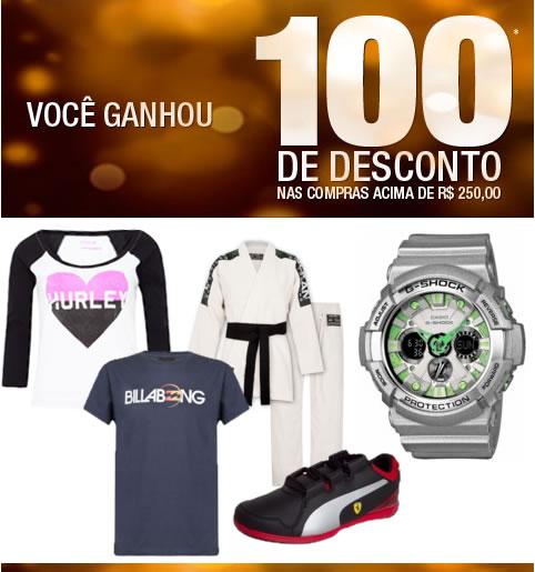 Cupom de desconto de R$ 100 na Dafiti Sports