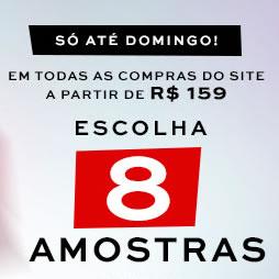 Sephora: Ganhe 8 amostras grátis nas compras acima de R$ 159