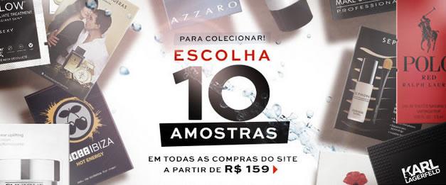 Sephora: Ganhe 10 amostras grátis nas compras acima de R$ 159