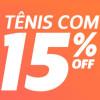 Netshoes: Diversos tênis com 15% de desconto