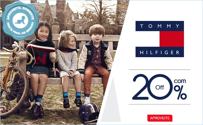 Bebê Store: Tommy Hilfiger infantil com 20% de desconto