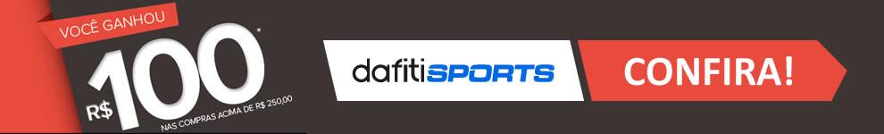 Cupom de desconto de R$ 100 nas compras acima de R$ 250 na Dafiti Sports