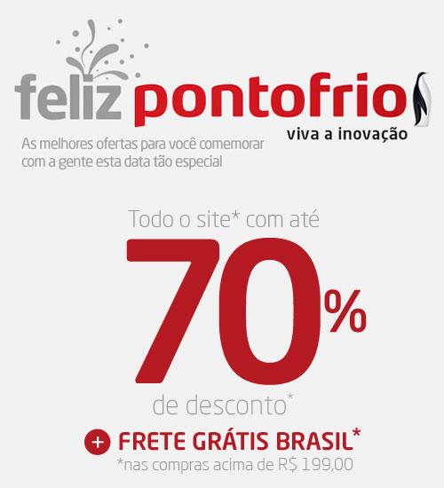 Feliz Pontofrio - Até 70% de desconto em todo o site