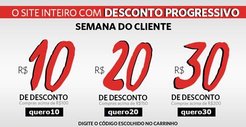 Passarela: Cupons de R$ 30, R$ 20 e R$ 10 na Semana do Cliente