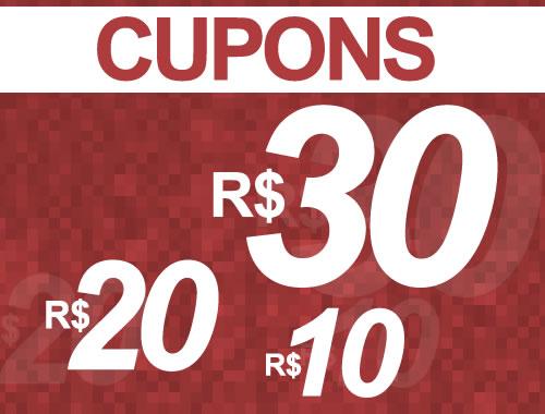 Passarela: Cupons de desconto de R$ 30, R$ 20 e R$ 10