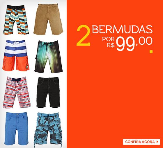Duas Bermudas por R$ 99 na Kanui