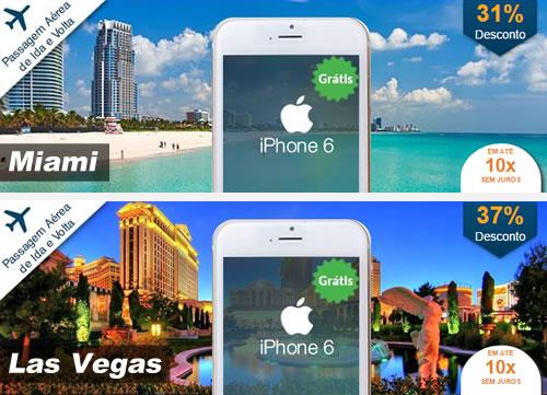 Ganhe iPhone 6 ao comprar pacote para os EUA no Hotel Urbano