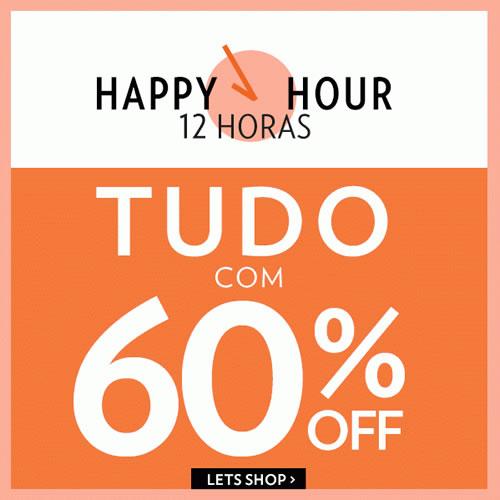 Dia de Happy Hour na Lets! Produtos com 60% de desconto
