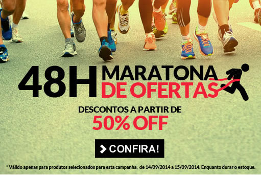 Maratona de ofertas Dafiti Sports; produtos a partir de 50% de desconto